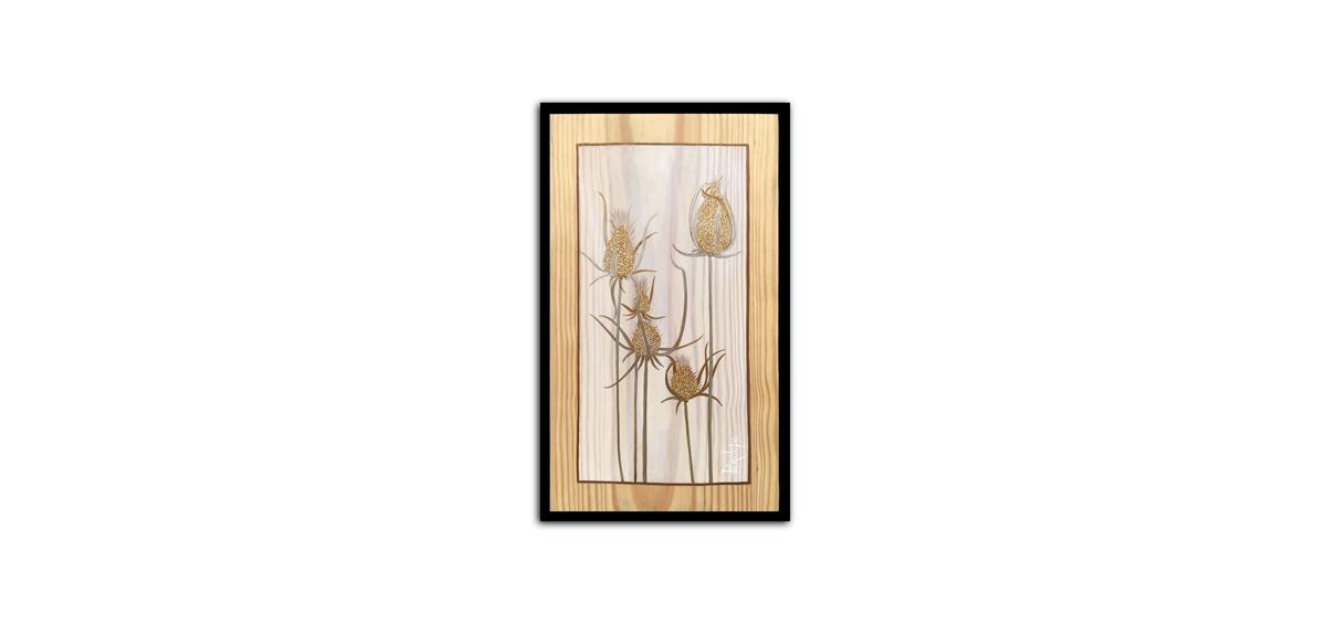 herbes sauvages peintes à l'or, tanaise