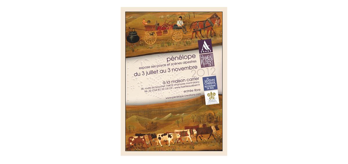 Chamonix, affiche de l'expo à la galerie des artistes