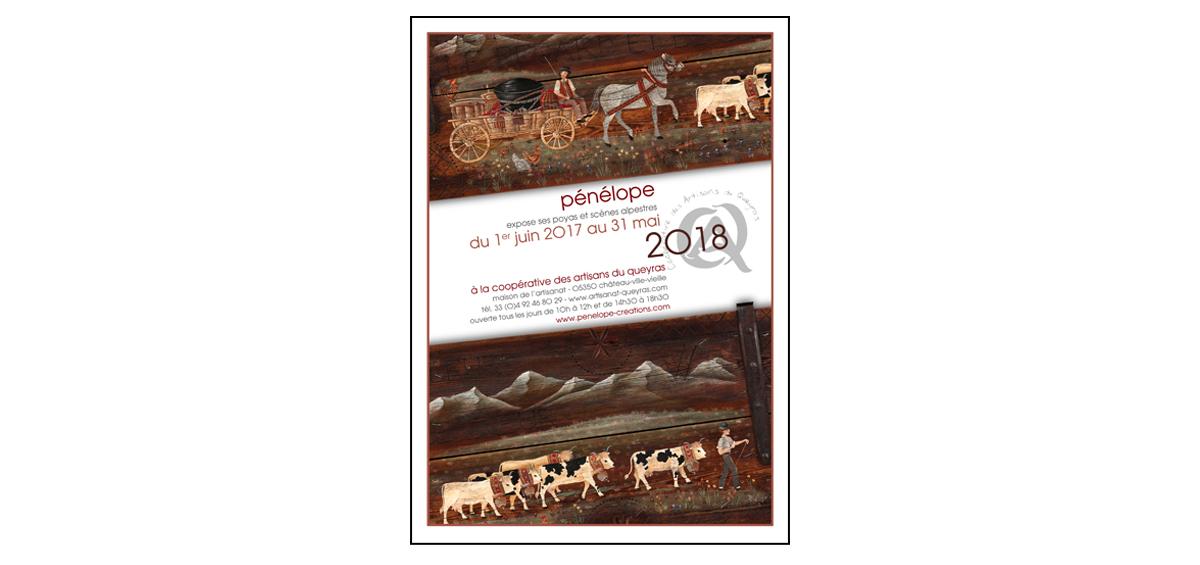 Queyras, affiche de l'exposition 2018