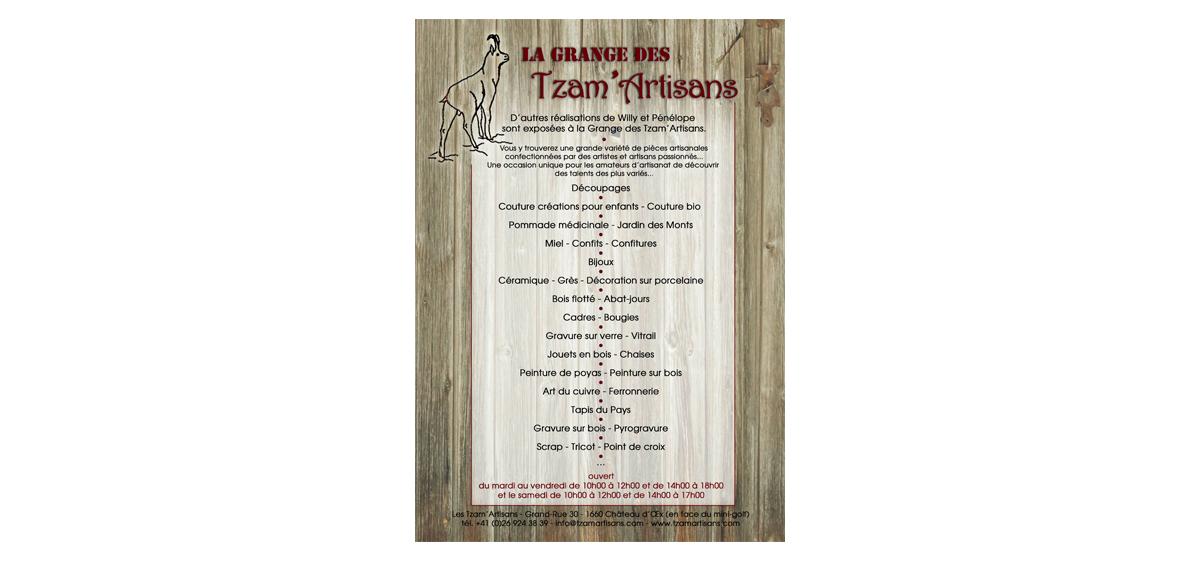affiche expo tzam'artisans