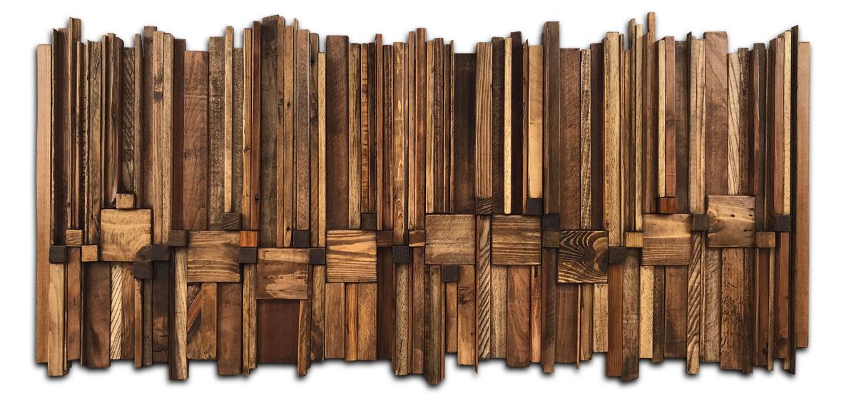 tableau avec chutes de bois