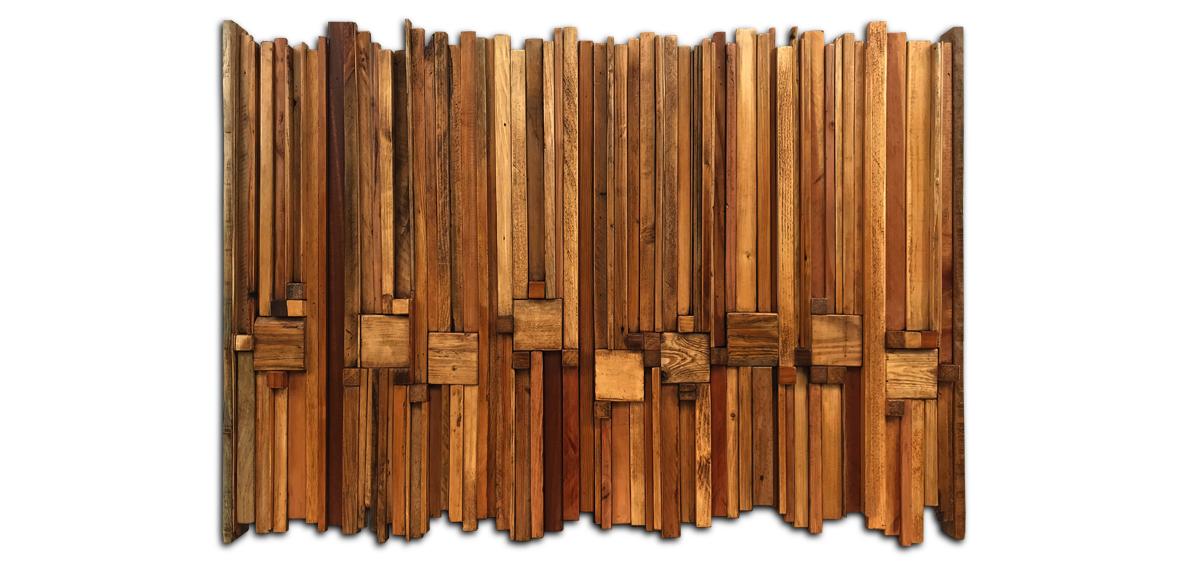 tableau réalisé avec des chutes de bois