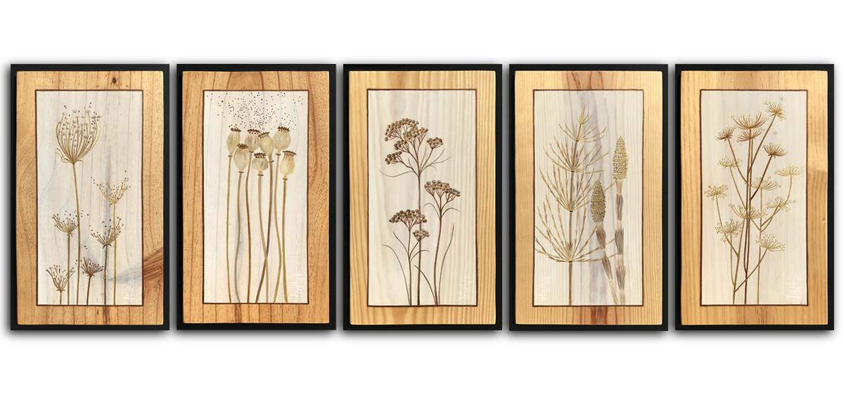 peinture des herbes sauvages