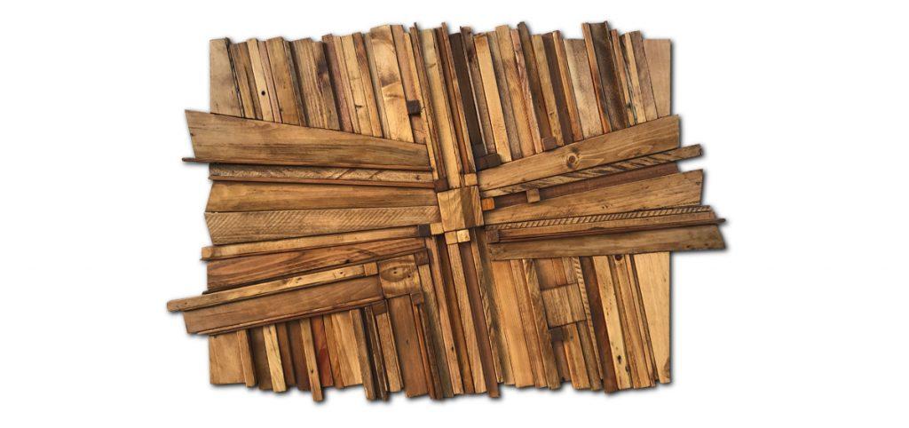 tableau avec bois de récupération